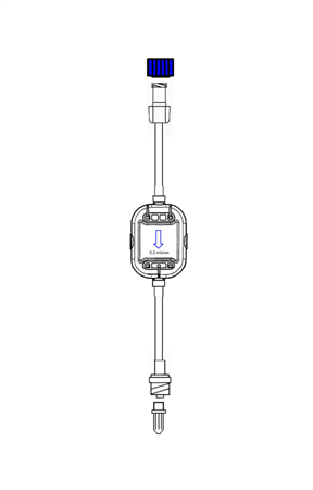 10cm EXTENSION WITH 0.2µm FILTER WITH NON-RETURN VALVE