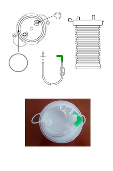FLEXIBLE BAG FOR THE ASPIRATION OF ORGANIC FLUIDS OF 1000ml / 1500ml / 2000ml, WITHOUT HOLE. SERIAL USE - TANDEM.