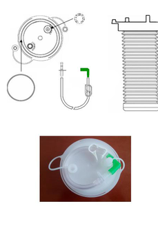 FLEXIBLE BAG FOR THE ASPIRATION OF ORGANIC FLUIDS OF 3000ml, WITHOUT HOLE. SERIAL USE - TANDEM.